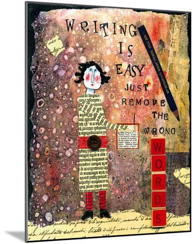 Writing is Easy-Barbara Olsen-Mounted Giclee Print