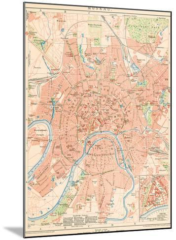 'Moskau' - A Map Of Moscow, 1892-Friedrich Arnold Brockhaus-Mounted Giclee Print
