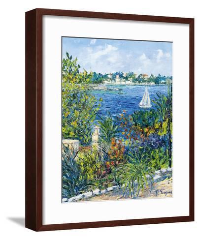White Boat-Tania Forgione-Framed Art Print