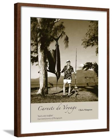 Jack With Sailfish-Chris Simpson-Framed Art Print
