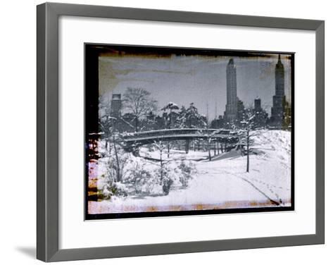 New York City In Winter V-British Pathe-Framed Art Print