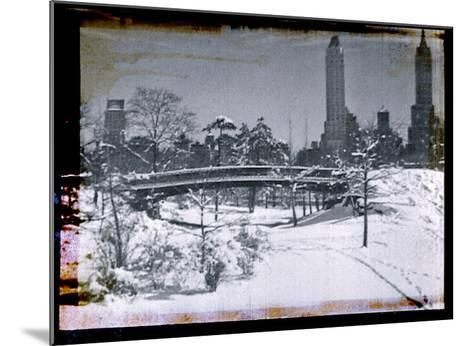New York City In Winter V-British Pathe-Mounted Giclee Print
