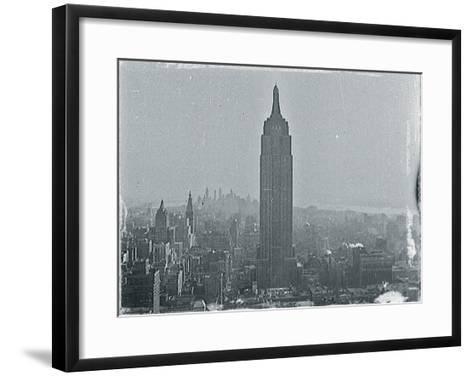 New York City In Winter VII-British Pathe-Framed Art Print