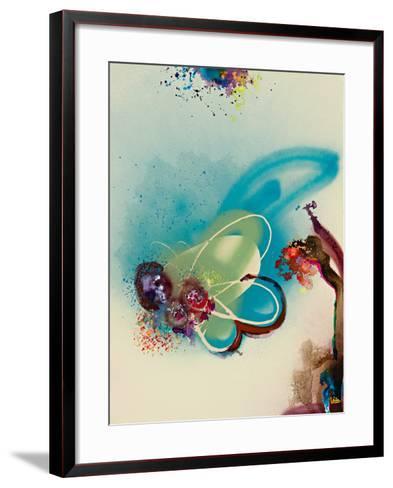 Floral Mist III-Leila-Framed Art Print