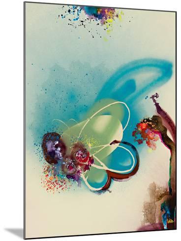 Floral Mist III-Leila-Mounted Giclee Print