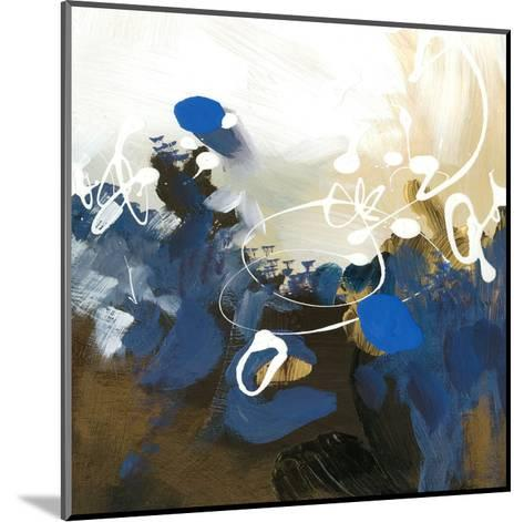Blue Abstract-Meejlau-Mounted Art Print