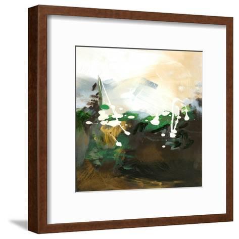 Green Abstract-Meejlau-Framed Art Print