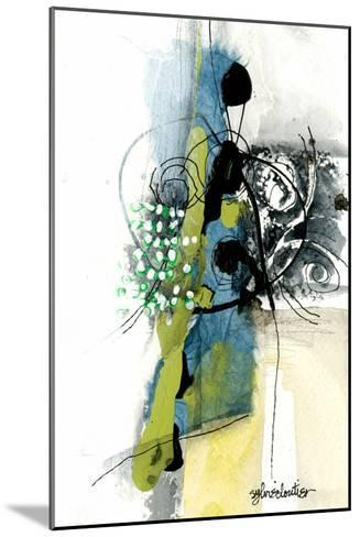 Zone Bleue-Sylvie Cloutier-Mounted Art Print