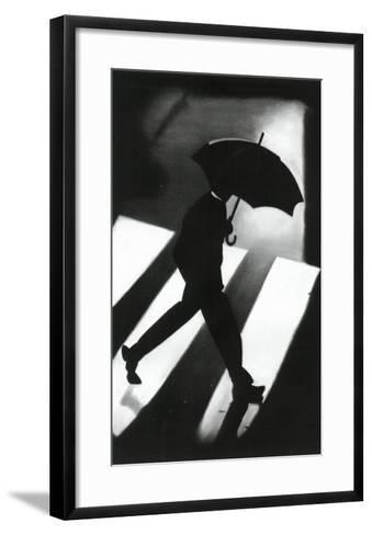 Zebra Crossing-David Cowden-Framed Art Print