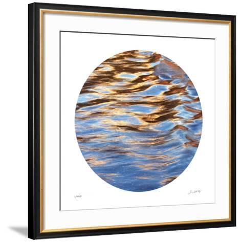 Liquid Gold Circle 2-Joy Doherty-Framed Art Print