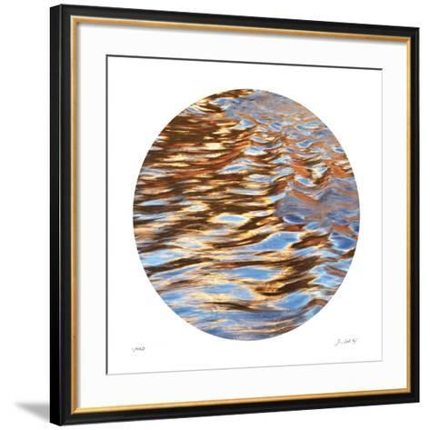 Liquid Gold Circle 3-Joy Doherty-Framed Art Print