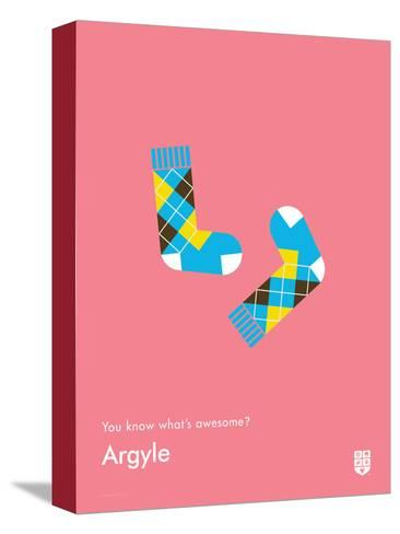 You Know What's Awesome? Argyle (Pink)-Wee Society-Stretched Canvas Print