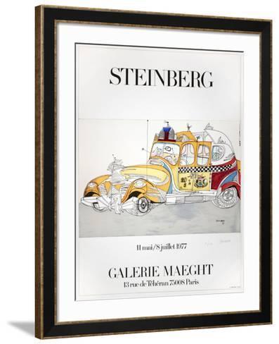 Taxi-Saul Steinberg-Framed Art Print