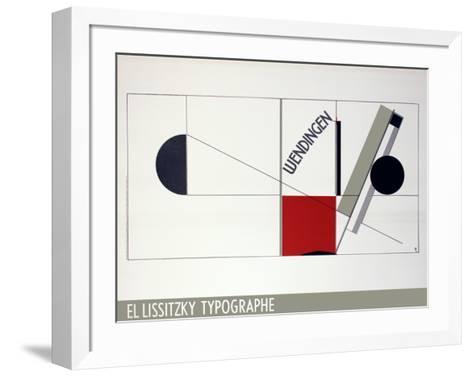 Magazine Cover Design Twists-El Lissitzky-Framed Art Print