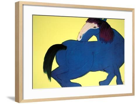 Blue Horse-Walasse Ting-Framed Art Print