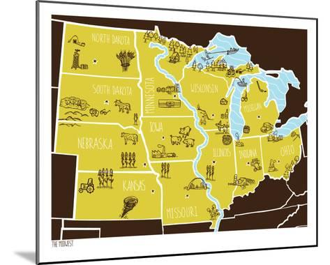 American Atlas - The Midwest- Brainstorm-Mounted Serigraph