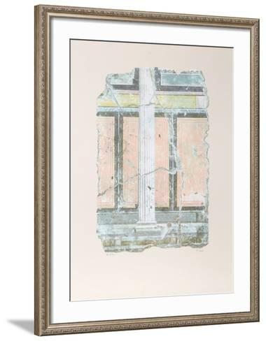 Yellow Fragment With Column I-Peter Saari-Framed Art Print