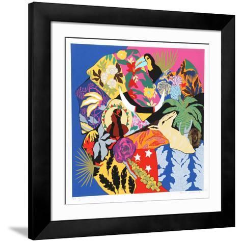 Horns of Plenty I-Hunt Slonem-Framed Art Print