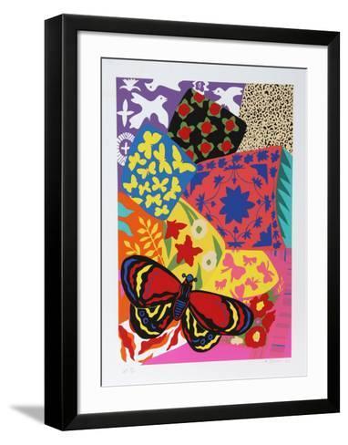 Three Doves-Hunt Slonem-Framed Art Print