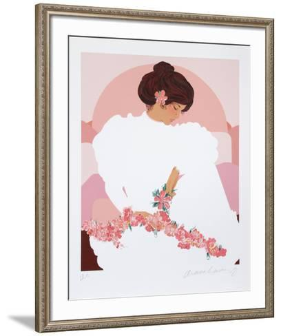 Seated Halau Dancer-Diana Hansen-Young-Framed Art Print