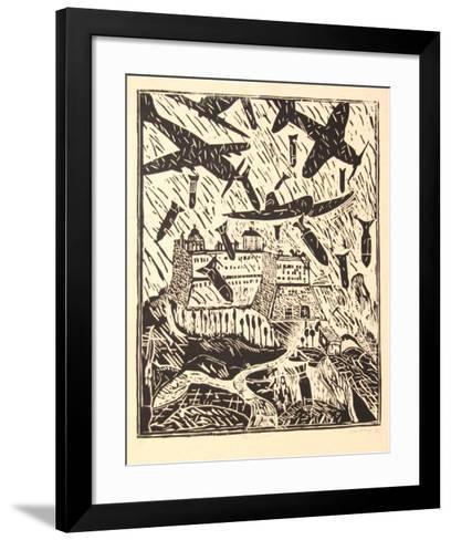 Monte Cassino (B&W)-Italo Scanga-Framed Art Print