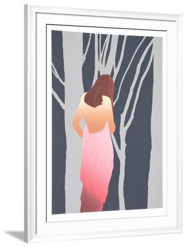 Woman in Forest-Derrick Brown-Framed Art Print