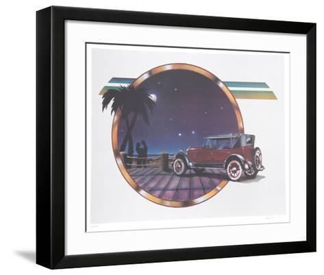 Moonlight Drive-Carmen Console-Framed Art Print
