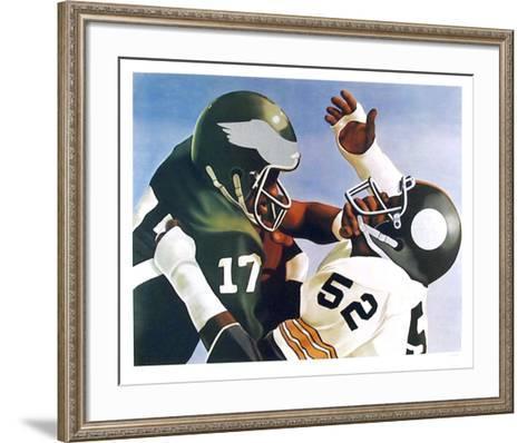 Violence in Pro Football-Robert Lambaise-Framed Art Print