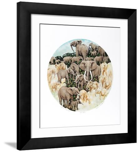 Elephant Composition-Caroline Schultz-Framed Art Print