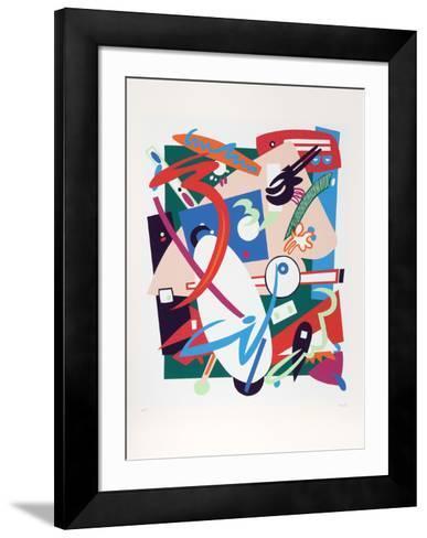 Building in Time-Nina Paull-Framed Art Print