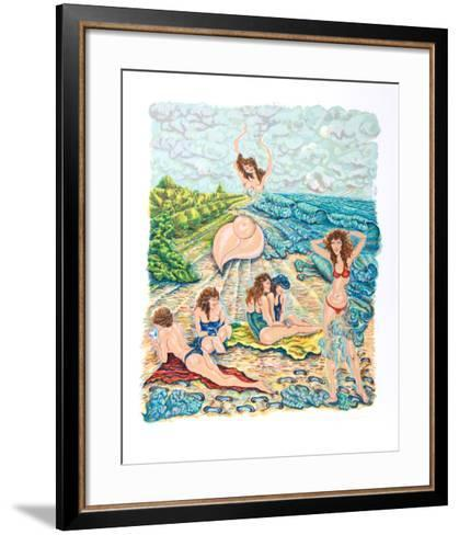 Painting with Sand-Rochelle Steiner-Framed Art Print
