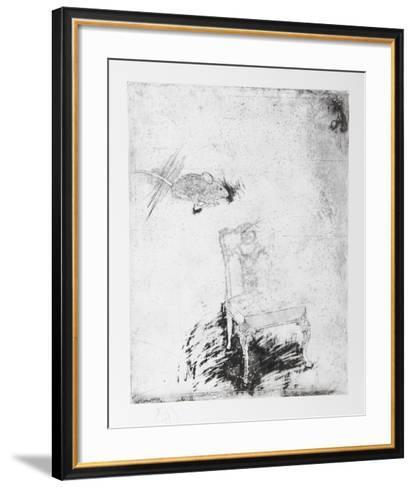 Untitled - Mouse and Chair-Donald Saff-Framed Art Print