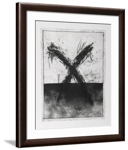 Untitled - X and Nail-Donald Saff-Framed Art Print