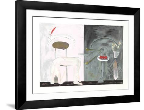 The Duck Pond Hotel IV-Daniel Marshall-Framed Art Print