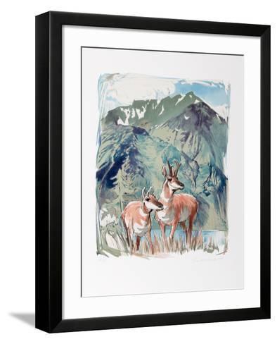 Prong Horn Antelope-Everett Hibbard-Framed Art Print