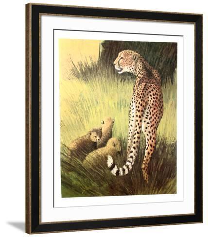 Cheetah Family Masai Mara-Caroline Schultz-Framed Art Print