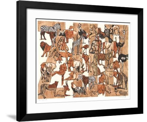 Zoo Composition-Caroline Schultz-Framed Art Print