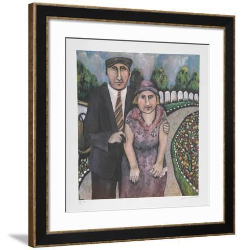 Jack & Mami on the Road-Susan Gardner-Framed Art Print