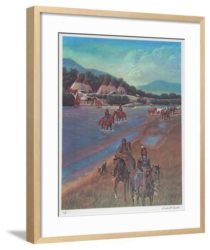Indian Camp on Little Wood River-Rockwell Smith-Framed Art Print