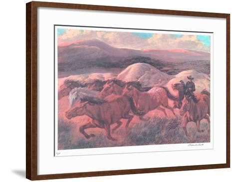 The Wild Horse Runners-Rockwell Smith-Framed Art Print