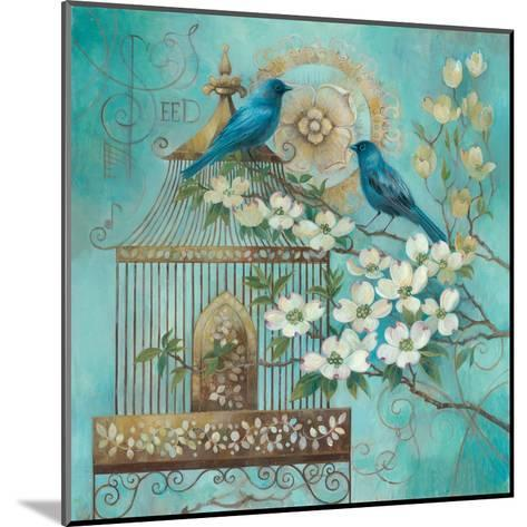 Blue Birds and Dogwood-Elaine Vollherbst-Lane-Mounted Art Print
