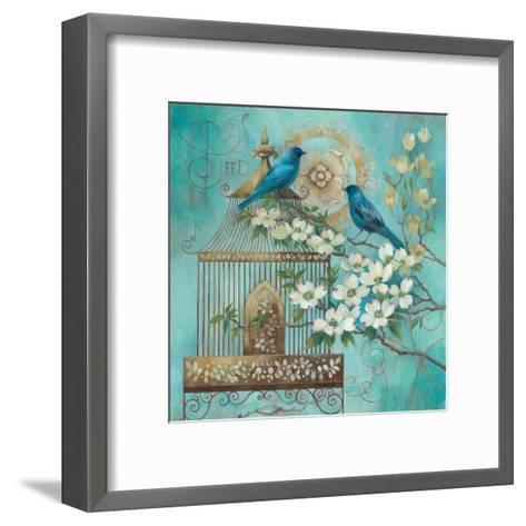 Blue Birds and Dogwood-Elaine Vollherbst-Lane-Framed Art Print
