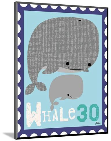 Animal Stamps - Whale-Jillian Phillips-Mounted Art Print
