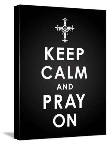 Keep Calm-Jace Grey-Stretched Canvas Print