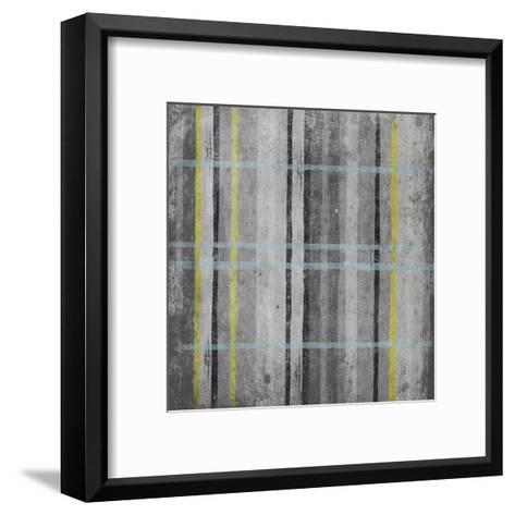 YG Stripes-Jace Grey-Framed Art Print