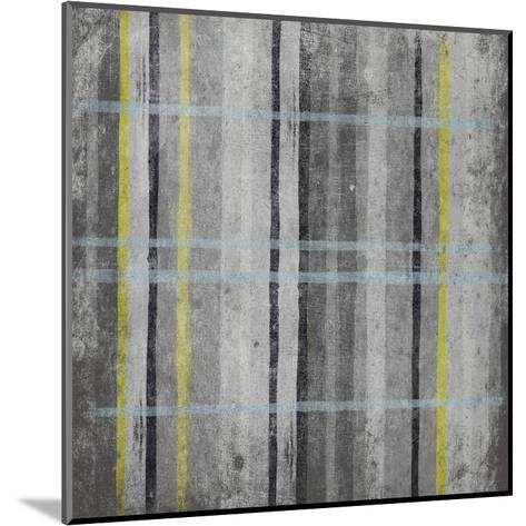 YG Stripes-Jace Grey-Mounted Art Print