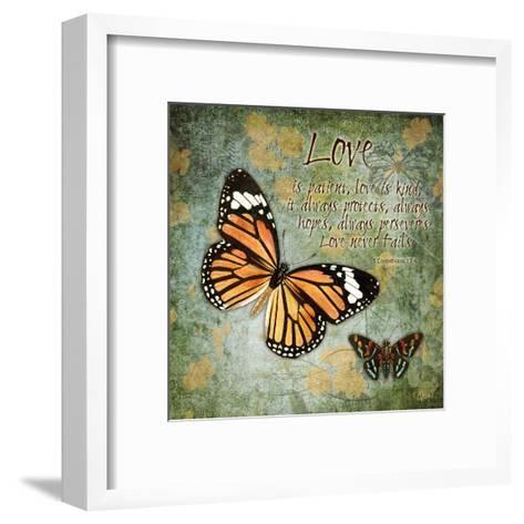 Butterfly Love-Carole Stevens-Framed Art Print