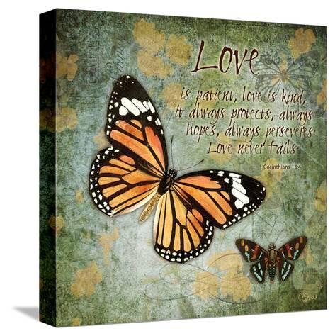 Butterfly Love-Carole Stevens-Stretched Canvas Print