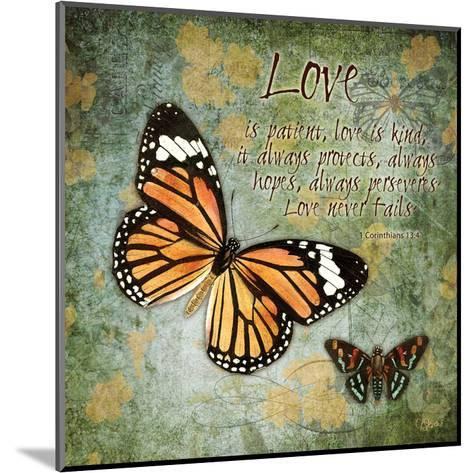 Butterfly Love-Carole Stevens-Mounted Art Print