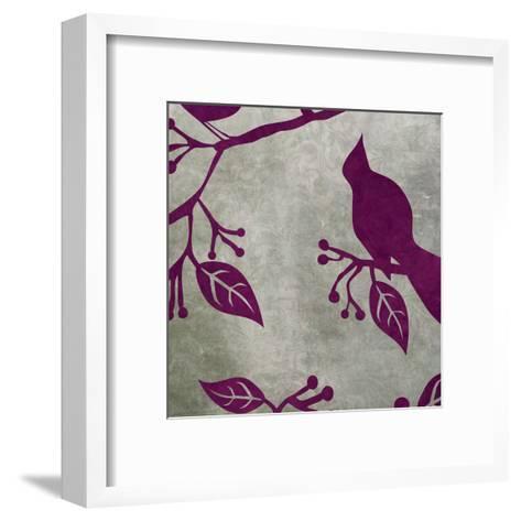 Birds & Leaves 2-Kristin Emery-Framed Art Print